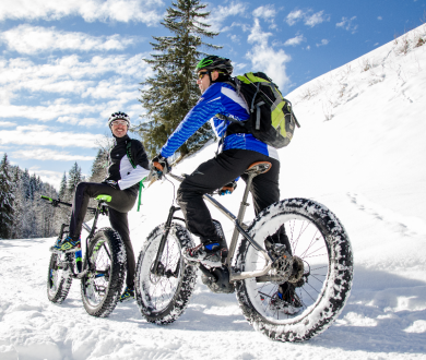 Fatbiking and ski touring: winter's two latest snowsports trends