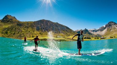 Stand-up paddle boarding, this summer's big hit