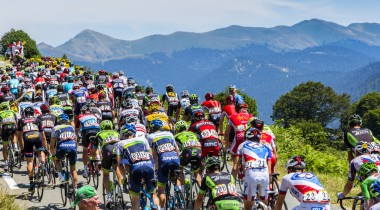 Le Tour de France in the French Mountains